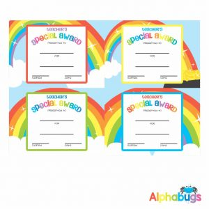 Certificates – Teacher's Special Award