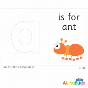 Playdough Mat – Learning Letters a