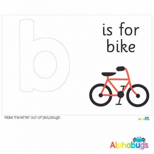 Playdough Mat – Learning Letters b