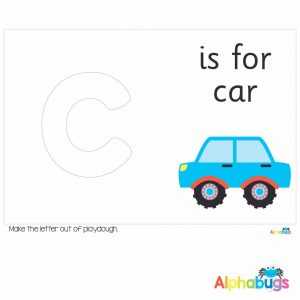 Playdough Mat – Learning Letters c