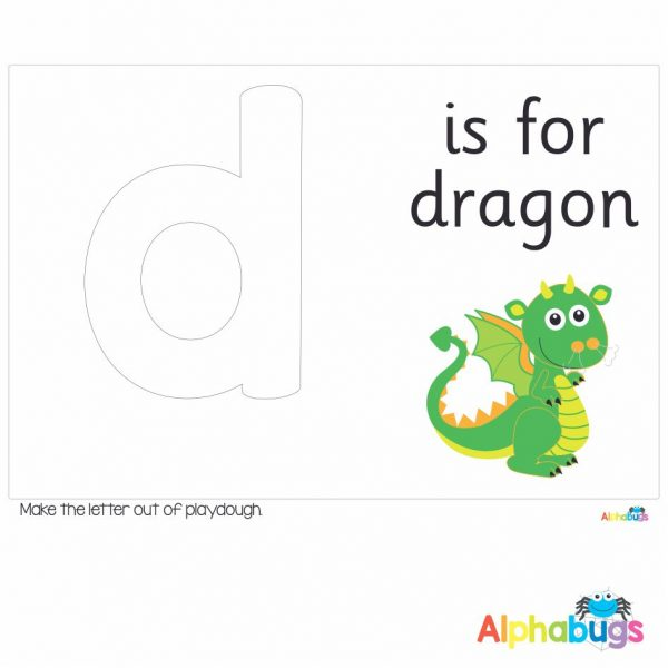 Playdough Mat – Learning Letters d
