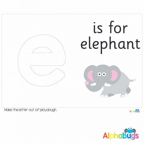 Playdough Mat – Learning Letters e