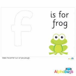 Playdough Mat – Learning Letters f