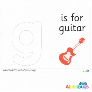 Playdough Mat – Learning Letters g