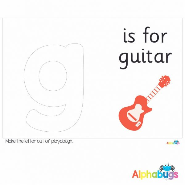 Playdough Mat – Learning Letters g
