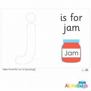 Playdough Mat – Learning Letters j