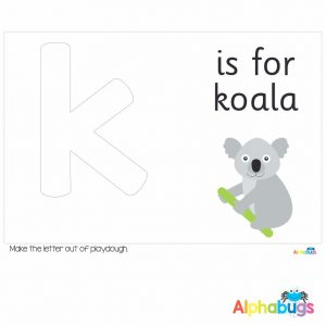 Playdough Mat – Learning Letters k
