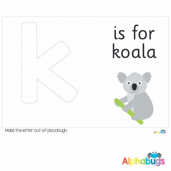 Playdough Mat – Learning Letters k