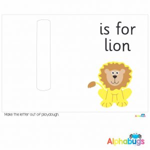 Playdough Mat – Learning Letters l