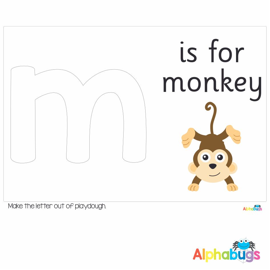 Playdough Mat – Learning Letters m