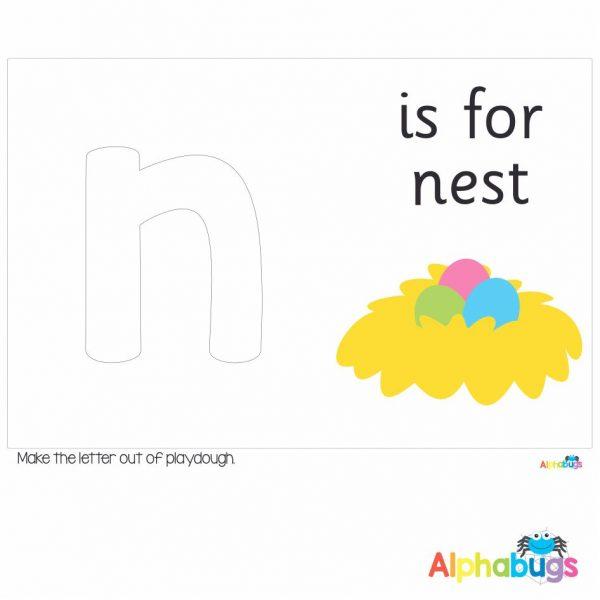 Playdough Mat – Learning Letters n