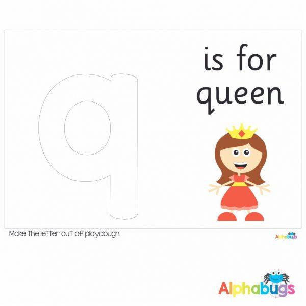 Playdough Mat – Learning Letters q