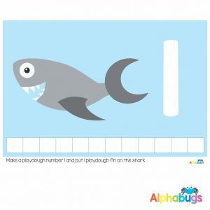 Playdough Mat – Under the Sea Counting 1