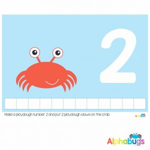 Playdough Mat – Under the Sea Counting 2