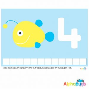Playdough Mat – Under the Sea Counting 4