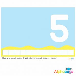 Playdough Mat – Under the Sea Counting 5