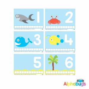 Playdough Mat – Under the Sea Counting 1-6