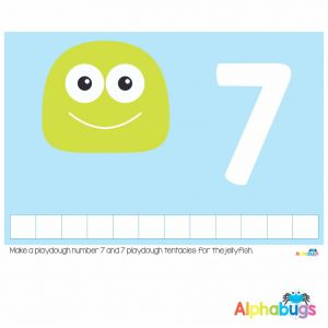 Playdough Mat – Under the Sea Counting 7