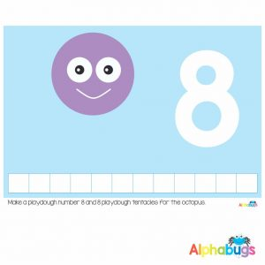 Playdough Mat – Under the Sea Counting 8