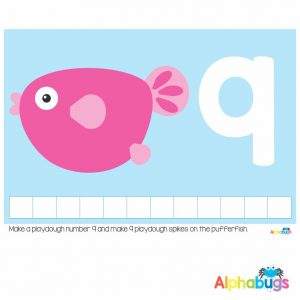 Playdough Mat – Under the Sea Counting 9