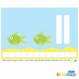 Playdough Mat – Under the Sea Counting 11