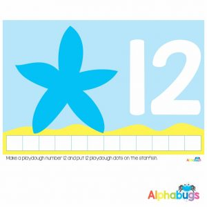 Playdough Mat – Under the Sea Counting 12