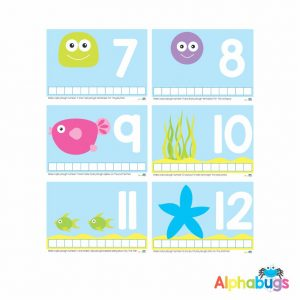 Playdough Mat – Under the Sea Counting 7-12