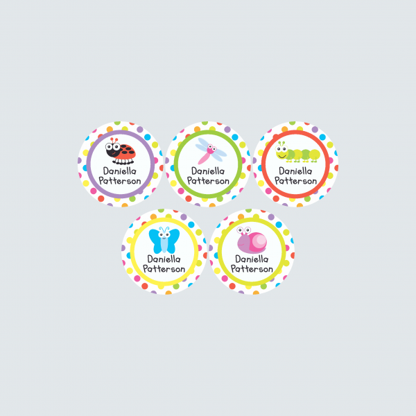 Small Round Labels – Alphabugs