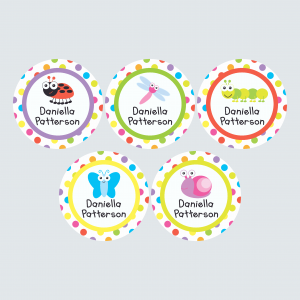 Large Round Labels – Alphabugs