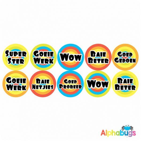 Afrikaans Stickers – Algemene Motivering Stel 10