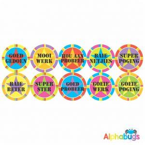 Afrikaans Stickers – Algemene Motivering Stel 11