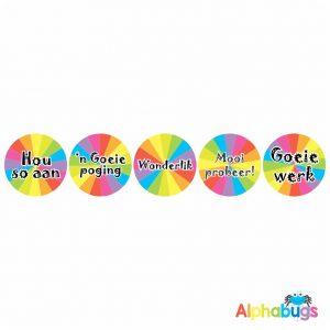 Afrikaans Stickers – Algemene Motivering Stel 12