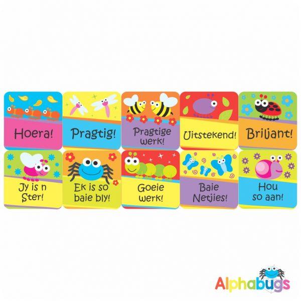 Afrikaans Stickers – Algemene Motivering Stel 4