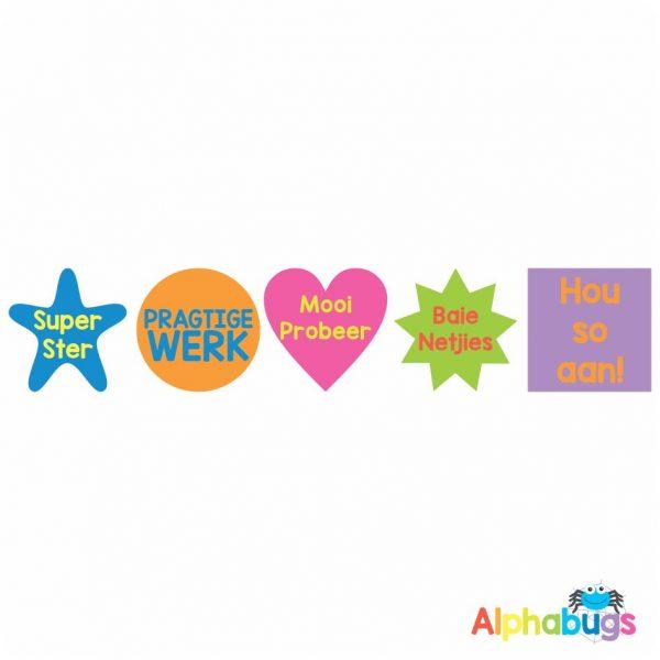 Afrikaans Stickers – Algemene Motivering Stel 5