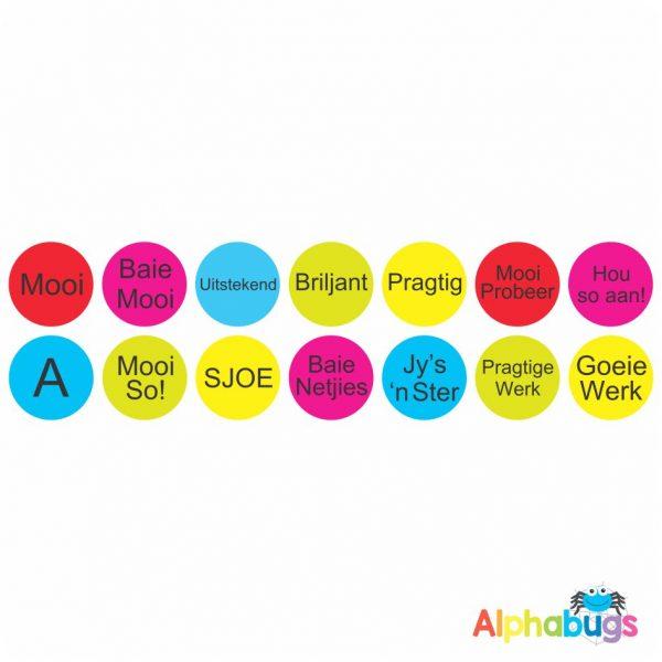 Afrikaans Stickers – Algemene Motivering Stel 6