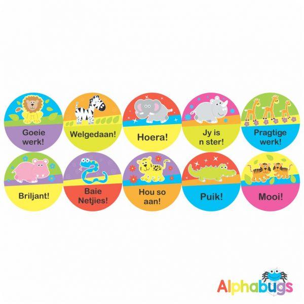 Afrikaans Stickers – Algemene Motivering Stel 7