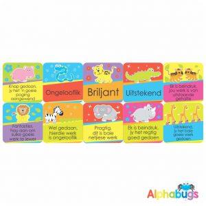 Afrikaans Stickers – Algemene Motivering Stel 8