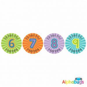 Afrikaans Stickers – Ek Ken My Tafels 2