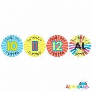 Afrikaans Stickers – Ek Ken My Tafels 3