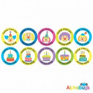 Afrikaans Stickers – Verjaarsdag Stel 1