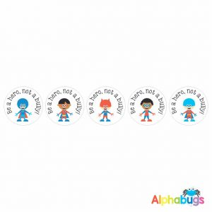Anti-Bullying Stickers – Be a Hero Boys