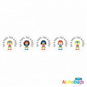Anti-Bullying Stickers – Be a Hero Girls