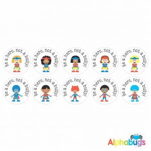 Anti-Bullying Stickers – Be a Hero Kids