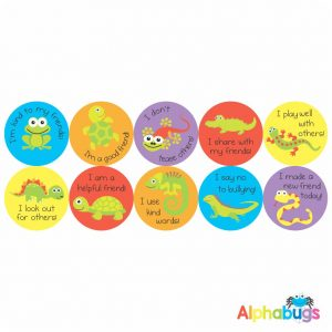 Anti-Bullying Stickers – Friendly Critters