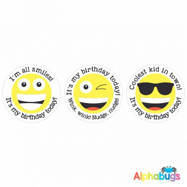 Birthday Badge Stickers – Say Cheese