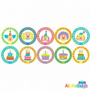 Birthday Stickers – Cakes n Clowns