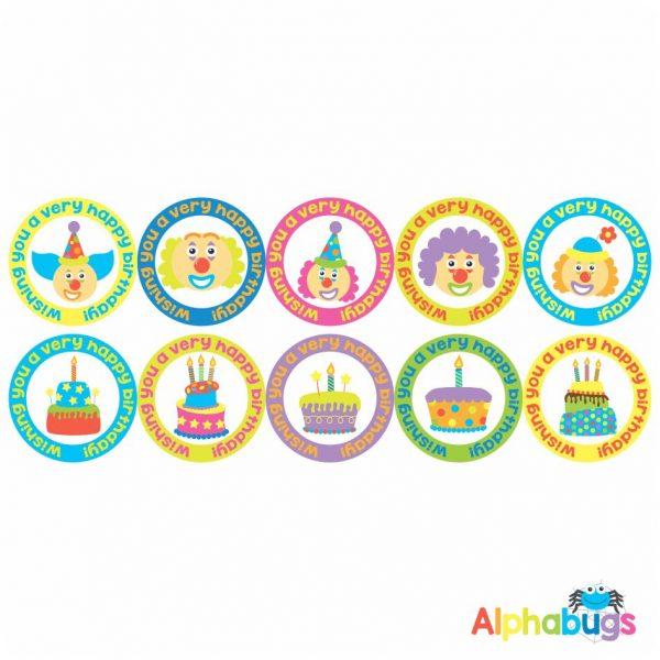 Birthday Stickers – Cakes n Clowns
