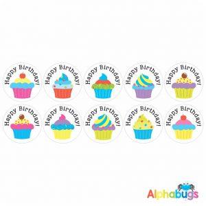 Birthday Stickers – Cupcakes