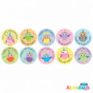 Birthday Stickers – Wise Owls