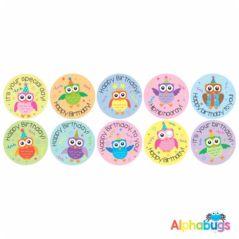 Birthday Stickers – Wise Owls